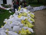 Volunteers Build a Barricade