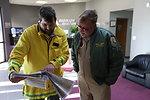 Refuge Manager Rick Potvin with pilot Glenn Cullingford (CT)