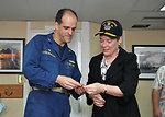 Under Secretary Gottemoeller Receives a Commemorative Ship's Coin From Capt. Weillenman