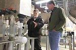 Project Leader Ken Gillette shows Dan around
