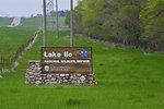 Close-up of Lake Ilo NWR sign