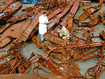 Steel from Collapsed WTC Towers