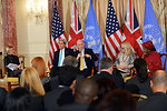 Secretary Kerry and UK Foreign Secretary Hague Participate in a Discussion on Efforts To Prevent and Respond to Sexual Violence in Conflict