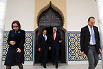 Tunisian Prime Minister Joma'a Escorts Secretary Kerry After Meeting