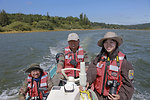 On the Coquille River - Xu and Jia with translator Miao Yu