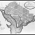 Pierre Charles L'Enfant 1792 plan for city of Washignton