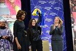First Lady Michelle Obama and Deputy Secretary Higginbottom With 2014 IWOC Awardee Ruslana Lyzhychko of Ukraine