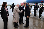 Secretary Kerry Shakes Hands With Vatican Ambassador Hackett Upon Arriving in Rome