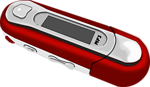 A Red old style MP3 Player