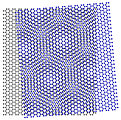 Atomic scale moire patterns