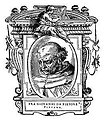 Illustratio from 'Le Vite' by Giorgio Vasari, edition of 1568. For the artist portrayed see filename