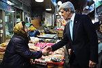 Secretary Kerry Greets South Korean Woman