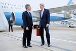 Secretary Kerry, Charge d'Affaires Taplin Speak on Paris Tarmac