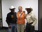 Maurice Wade, Kathy Dennis and Charles Sampson