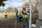 Capitol Dome Restoration Staging Area