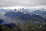 Swiss Landscape as Seen From Secretary Kerry's Helicopter on Flight to Davos