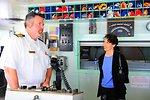 MSC Capt. Bradshaw Briefs Consul General Bauer