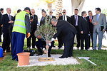 Secretary Kerry and Algerian Foreign Minister Plant Olive Tree Outside Ministry of Foreign Affairs in Algiers