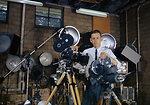 Ed Westcott with film making Equipment Oak Ridge