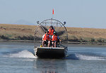 Using Airboats to Place Boundary Signs