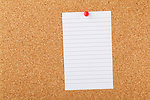 Note paper on cork board