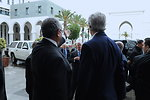 Algerian Foreign Minister Welcomes Secretary Kerry to Ministry of Foreign Affairs in Algiers
