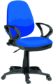 Desk Chair-Blue with wheels