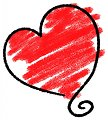 Sketched heart