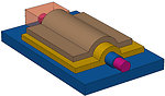Schematic of silicon nanowire