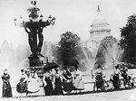 Bartholdi Fountain at the U.S. Capitol - 1890