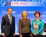 Secretary Clinton Participates in the US-NATO-EU Trilateral Meeting With EU High Representative Ashton and NATO Secretary General Rasmussen