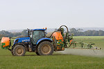 Tractor crop spraying