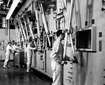 Operators Using Mechanical Arms at Hot Cells ORNL