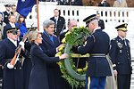 Secretaries Kerry, Hagel and Australian Ministers Bishop, Johnston Participate in a Wreath Laying Ceremony