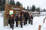 Staff at the Creston National Fish Hatchery