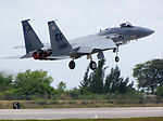 Reserve, active-duty pilots battle for air superiority