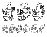 Flower Sketches Regular Font