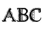 Lacetrim Regular Font