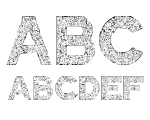 Quilted Stippled Regular Font