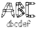 Sketch Pencils Regular Font