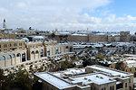 Rare Snow Blankets Jerusalem's Old City