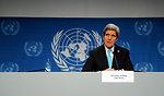 Secretary Kerry Addresses Reporters After Geneva II Meeeting