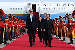 Secretary Kerry Greeted by Honor Guard as He Arrives in South Korea