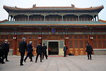 Secretary Kerry Arrives at Ziguangge Purple Chamber to Meet Chinese Premiere Li