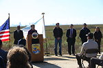 Secretary Sally Jewell speaking at Edwin B. Forsythe National Wildlife Refuge