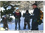 Interpretive snowshoe walk