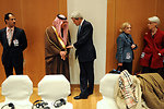 Secretary Kerry Speaks With Saudi Foreign Minister al-Faisal at Geneva II Conference