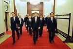 Secretary Kerry Walks Through Beijing's Great Hall of the People