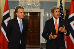 Secretary Kerry and Norwegian Foreign Minister Brende Address Reporters