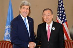 Secretary Kerry Meets With U.N. Secretary-General Ban at Syria Donors' Conference